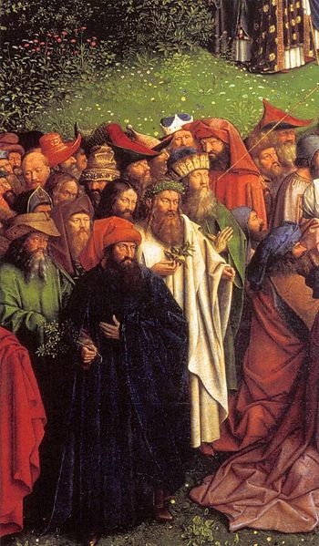 350px-Jan_van_Eyck_-_The_Ghent_Altarpiece_-_Adoration_of_the_Lamb_(detail)_-_WGA07656