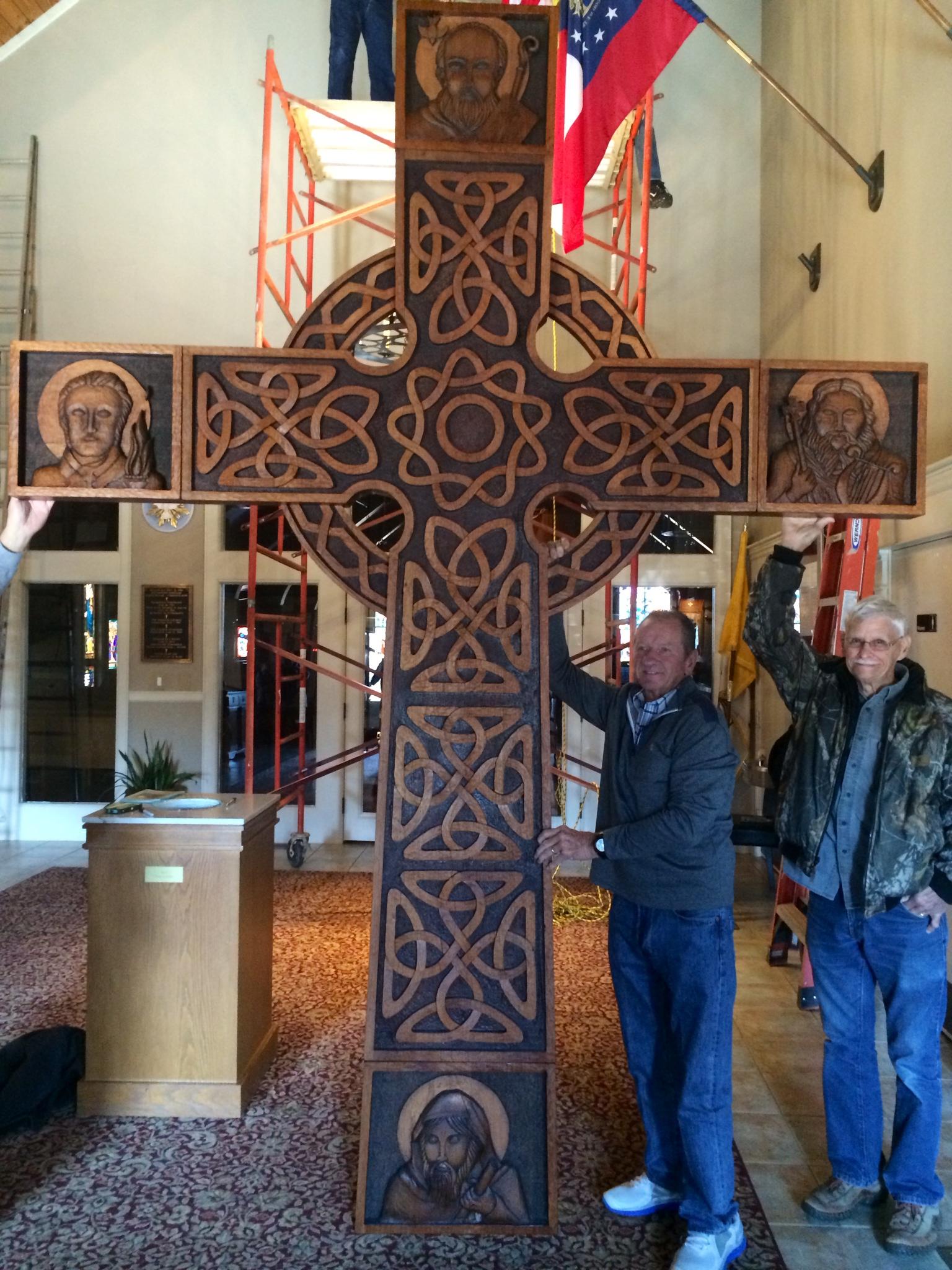 Doug and John Installing the HIgh Cross