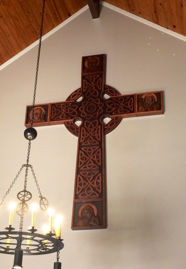 High Cross in the narthex with light less bright